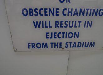 Obscene chant greets draw!