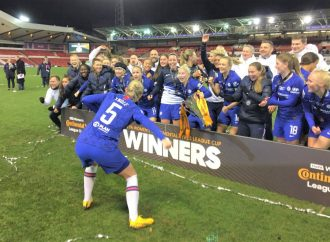 Chelsea lift 'Arsenal's trophy'