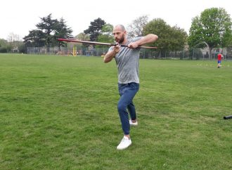 Film action man keeps fit in rec