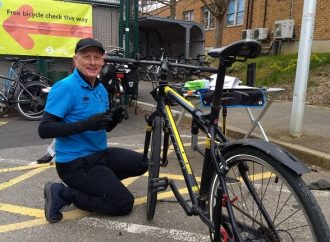Bike doctors visit Tolworth hospital for key workers