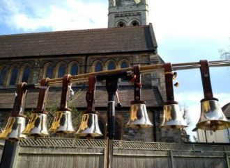Handbells chime for Easter