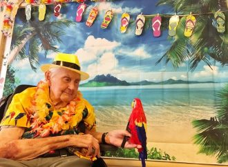 Veterans enjoy a taste of the Caribbean at care home