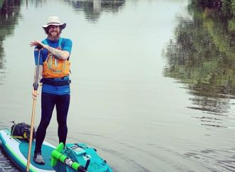 Paddle with Howard on the Surbiton stretch of the Thames on his epic 900-mile circuit