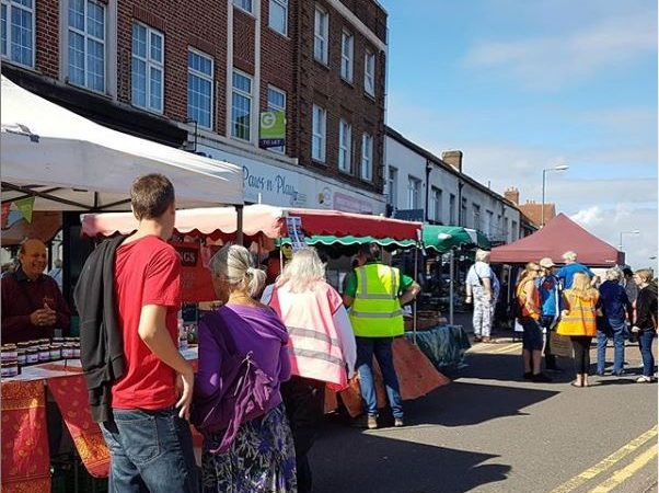 One-way system at Tolworth's arts, crafts and food market