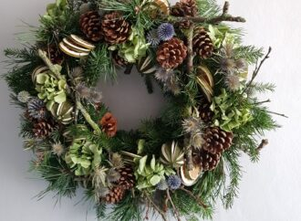 Brighten your front door with a made-to-order Christmas wreath