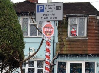 Parking bay reserved for Santa