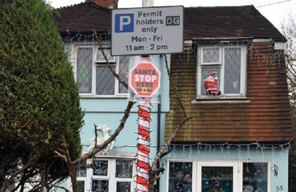 Parking bay reserved for Santa