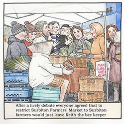 Surbiton Farm'er's Market by David Cox