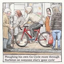 Cycling in Surbiton by David Cox