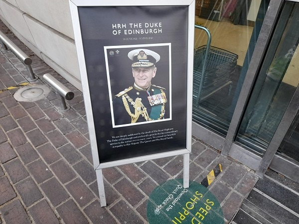 Waitrose pays tribute to Prince Philip whose funeral is today