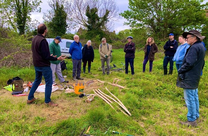 Learn scything techniques at Fishponds Park this Saturday